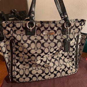 Coach cloth purse